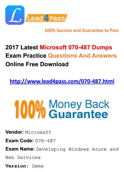 070-487 dumps