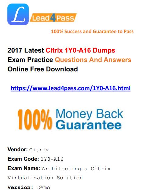 1Y0-A16 dumps