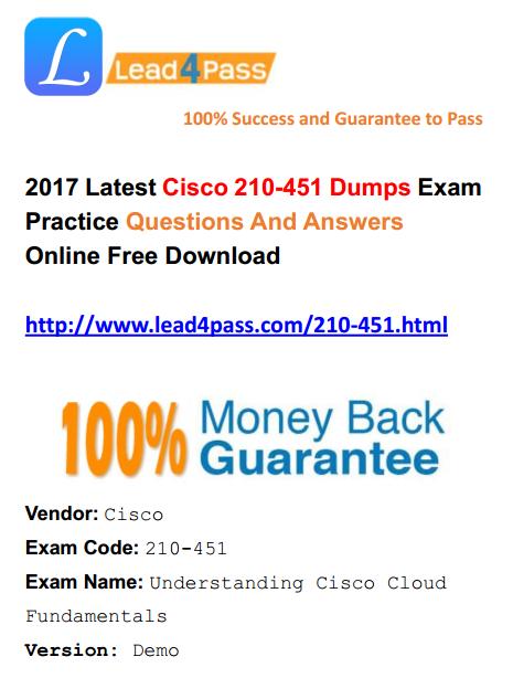 Cisco - Update Free Latest Lead4pass IT Exam Dumps