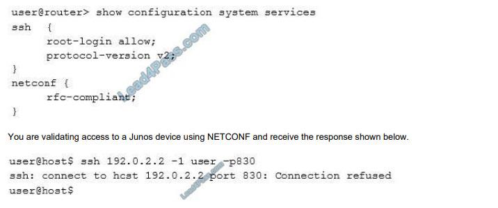 examvcesoftware jn0-420 q10